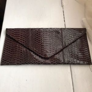 NEW Croc embossed faux leather envelope clutch